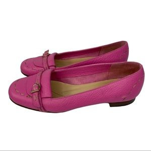 Kate Spade Pink Leather Loafer Flats Size 6
